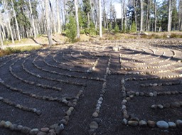Walking Labyrinth in Adirondacks, 2012
